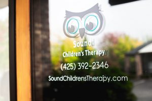 Door entrance to Sound Children's Therapy in Issaquah, WA